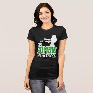 Camiseta Zombi lunes - señora Zombie Chasing Coffee