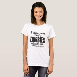 Camiseta ZOMBI para mujer le estoy disparando