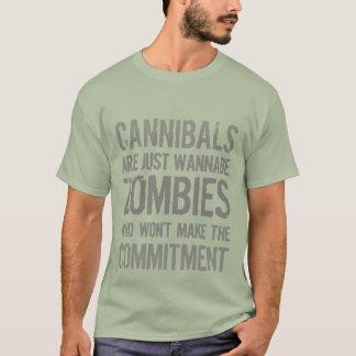 Camiseta Zombis del imitador de los caníbales