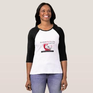 Camiseta Zona de comodidad para las mujeres hacia fuera la