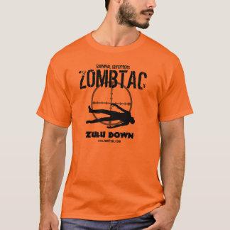 """Camiseta ¡Zulú táctico del zombi """"abajo! """""""