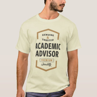 Camisetas académicas del logotipo del consejero