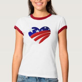 Camisetas americano grande del corazón
