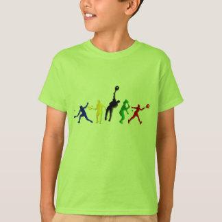 Camisetas atléticas y tenis de los jugadores de