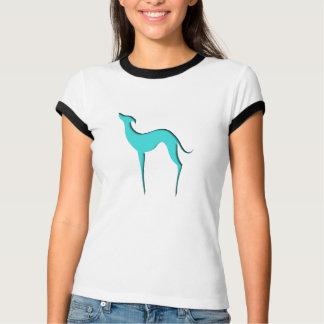 Camiseta Camisetas azules de las señoras de la silueta del
