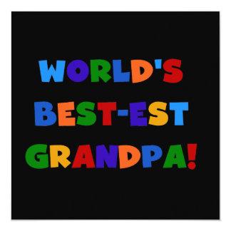 Camisetas brillantes de los colores del abuelo del invitación 13,3 cm x 13,3cm