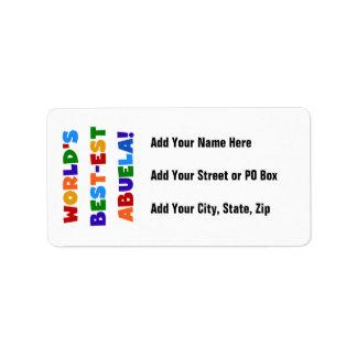Camisetas brillantes de los colores del Mejor-est Etiquetas De Dirección
