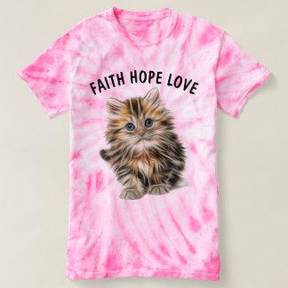 Camisetas cristianas del gatito del gato, teñido