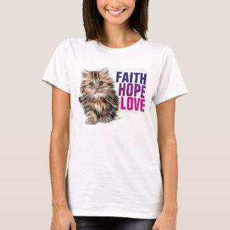 Camisetas cristianas del gato, amor de la