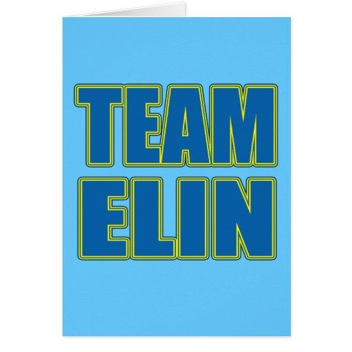 Camisetas de Elin del equipo, sudaderas con capuch Tarjetas