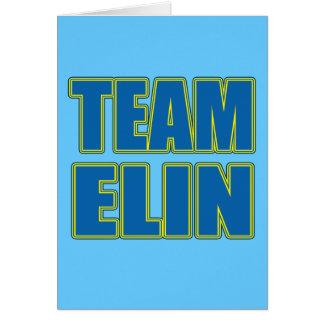 Camisetas de Elin del equipo, sudaderas con capuch Tarjeta De Felicitación
