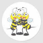 Camisetas de encargo: Camisetas feliz de la abeja  Pegatinas