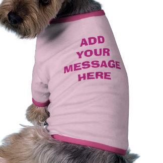Camisetas de encargo para la PLANTILLA FÁCIL de Camiseta Con Mangas Para Perro