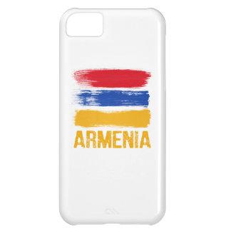 Camisetas de la bandera de Armenia Carcasa Para iPhone 5C