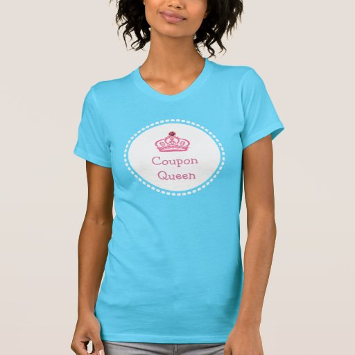 Camisetas de la corona de la reina de la cupón