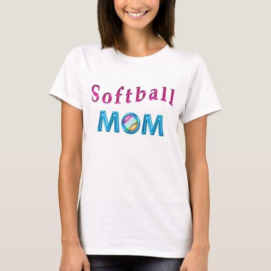 Camisetas de la mamá del softball con los