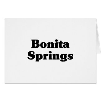 Camisetas de la obra clásica de Bonita Springs Tarjeta De Felicitación