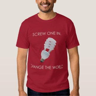 Camisetas de la oscuridad del bulbo del tornillo