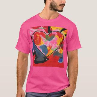 Camisetas de la pintura del corazón del arte