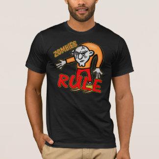 Camisetas de la regla de los zombis