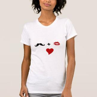 Camisetas de las señoras del bigote del labio