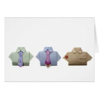 Camisetas de Origami Tarjeton