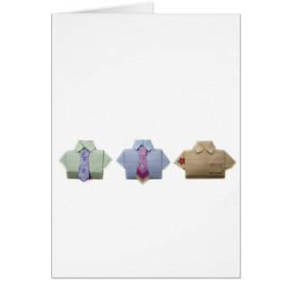 Camisetas de Origami Tarjeta De Felicitación