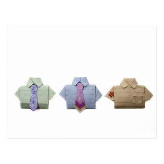 Camisetas de Origami Tarjeta Postal