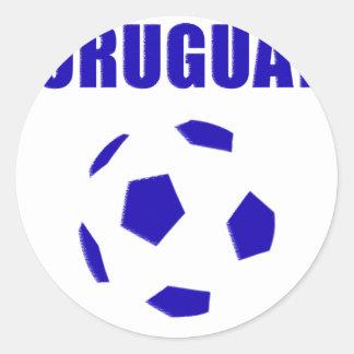 Camisetas de Uruguay futbol/futebol Pegatina Redonda