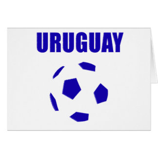 Camisetas de Uruguay futbol/futebol Tarjeta De Felicitación