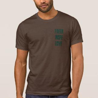 Camisetas del amor de la esperanza de la fe