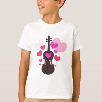 Camisetas del amor del jugador del violín