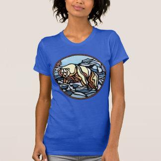 Camisetas del arte del oso nativo de las mujeres