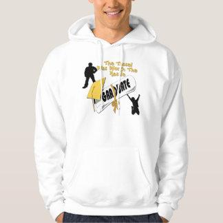 Camisetas del casquillo del graduado del oro del