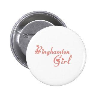 Camisetas del chica de Binghamton Pin
