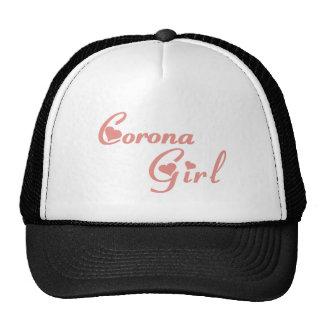 Camisetas del chica de la corona gorros bordados