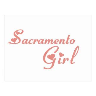 Camisetas del chica de Sacramento Postales