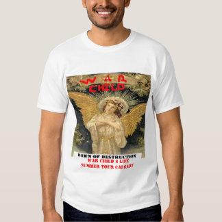 Camisetas del concierto del niño de la guerra