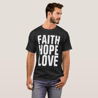Camisetas del cristiano del AMOR de la ESPERANZA