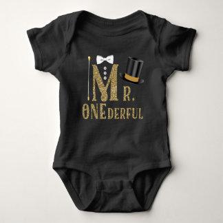 Camisetas del cumpleaños de Sr. ONEderful de los