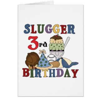 Camisetas del cumpleaños del bateador del béisbol  tarjetón