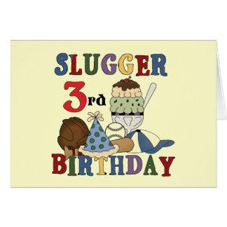 Camisetas del cumpleaños del bateador del béisbol  tarjeta de felicitación