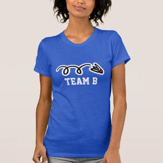 Camisetas del equipo del bádminton de las señoras