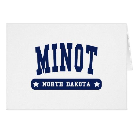 Camisetas del estilo de la universidad de Minot Tarjeta De Felicitación