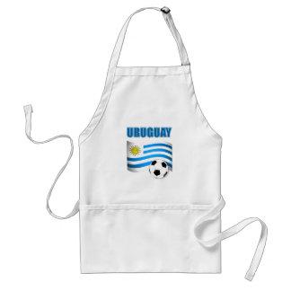 Camisetas del fútbol de Uruguay Delantal