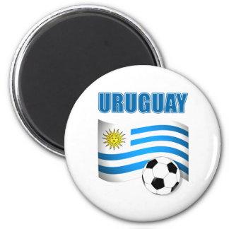 Camisetas del fútbol de Uruguay Imán Redondo 5 Cm