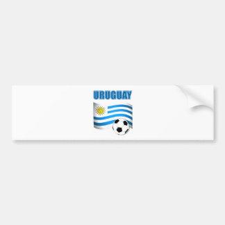 Camisetas del fútbol de Uruguay Pegatina Para Coche