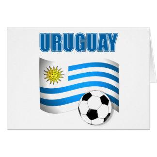 Camisetas del fútbol de Uruguay Tarjeta De Felicitación