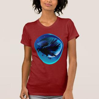 Camisetas del óvalo del cuervo y de la luna