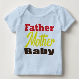 Camisetas del papá y del bebé